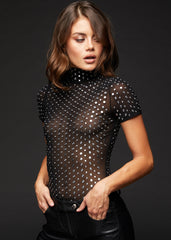 black studded bodysuit