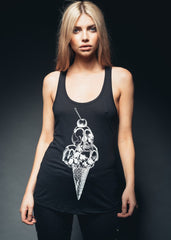 skull ice cream tank top