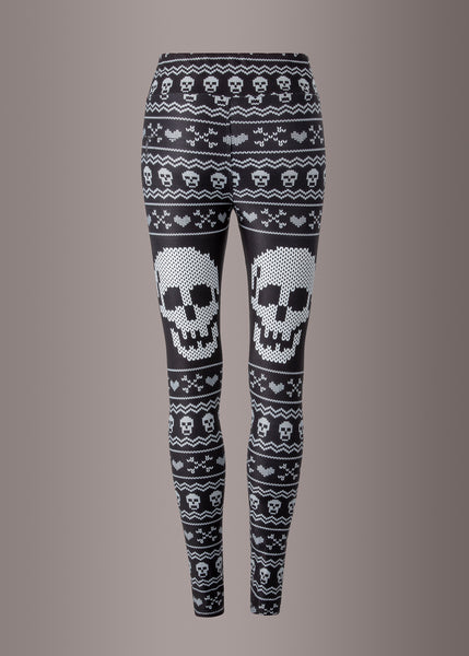 gothic leggings with skulls