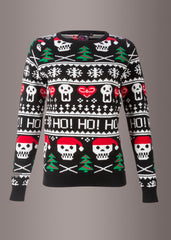 skull ugly xmas sweater