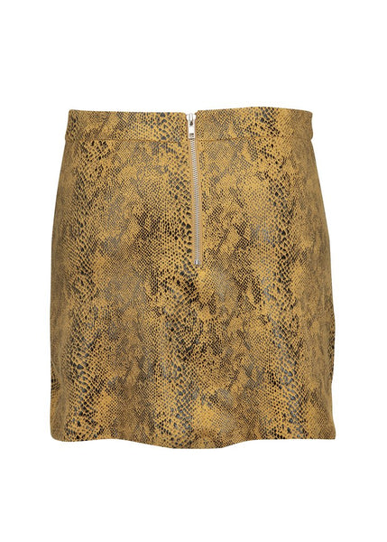 snake pattern mini skirt