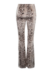 snakeskin velvet bell bottom pants