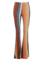 California Dreamin' Striped Seventies Retro Style Flared Bell Bottoms