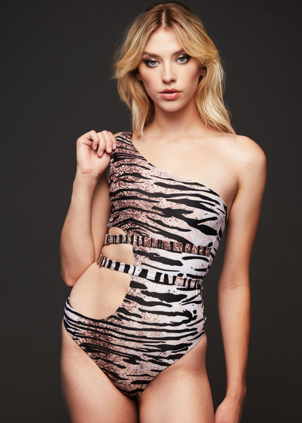 tiger print bathing suit