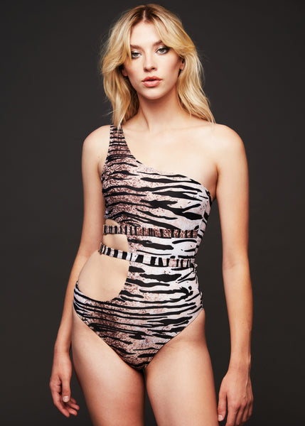 tiger print swimsuit