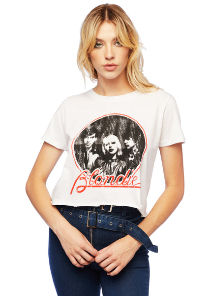 cropped blondie tee