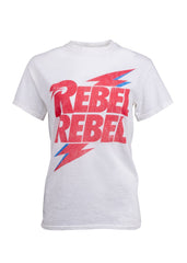 rebel rebel david bowie band tee