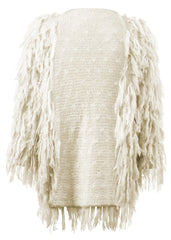 white shaggy jacket