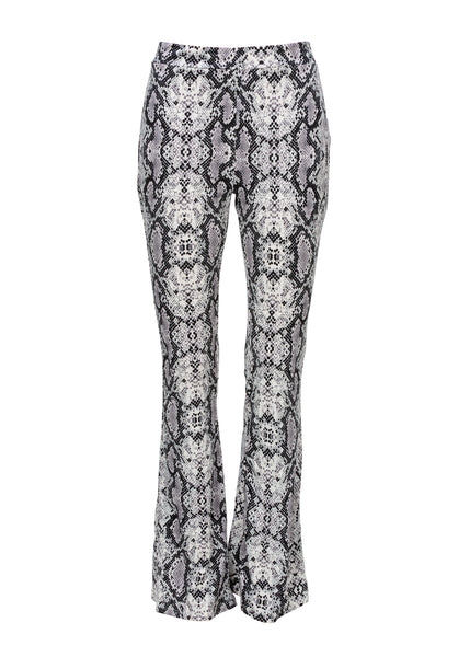 white snake print bell bottoms