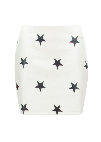 white star mini skirt