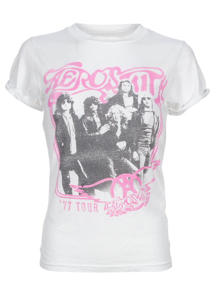 womens aerosmith band t shirt