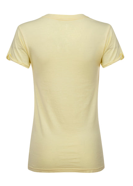 yellow blondie band tee