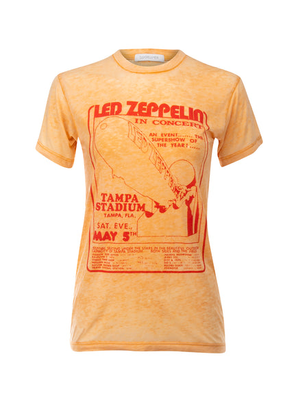 yellow led zeppelin band tee