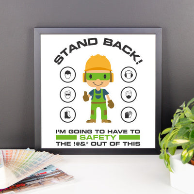 EPRO -Stand Back- Framed Safety Poster