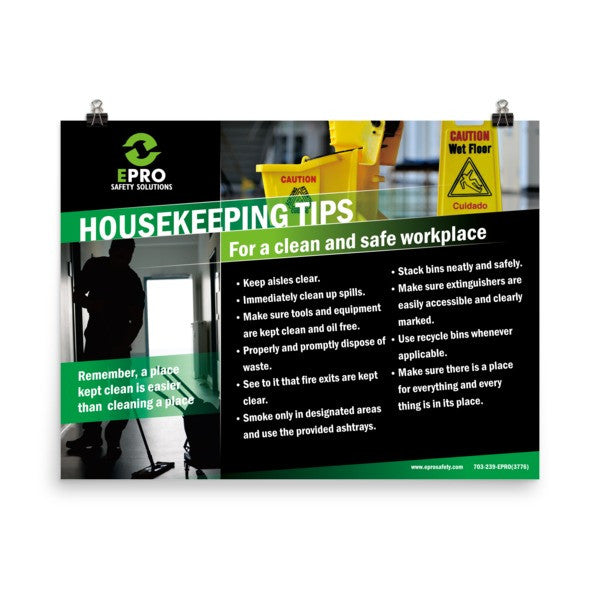 EPRO Housekeeping Tips Poster