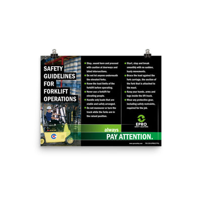 EPRO Forklift Operations Poster
