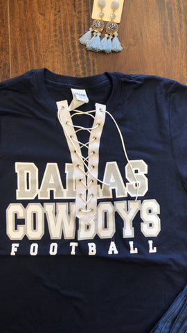 Cowboys Lace up Tee