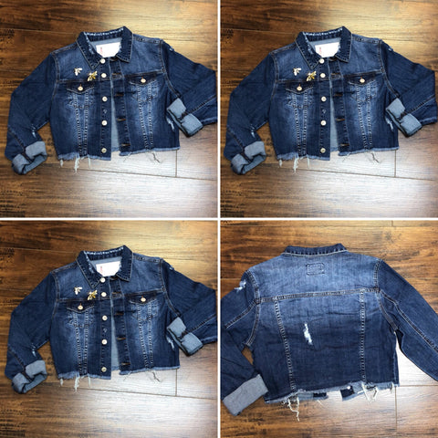 Killing It Denim Jacket (Color Dark)