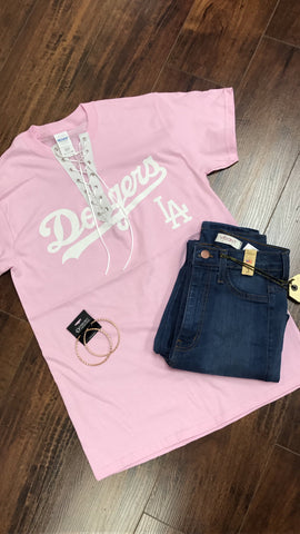 Dodgers Lace up tee