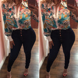Sky is the limit Flowers Blouse
