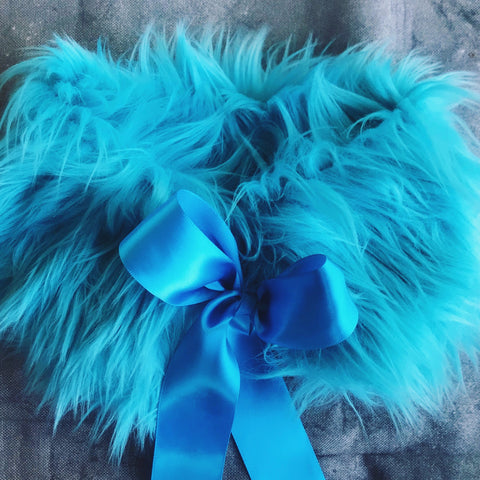 Fur Collar in Blue