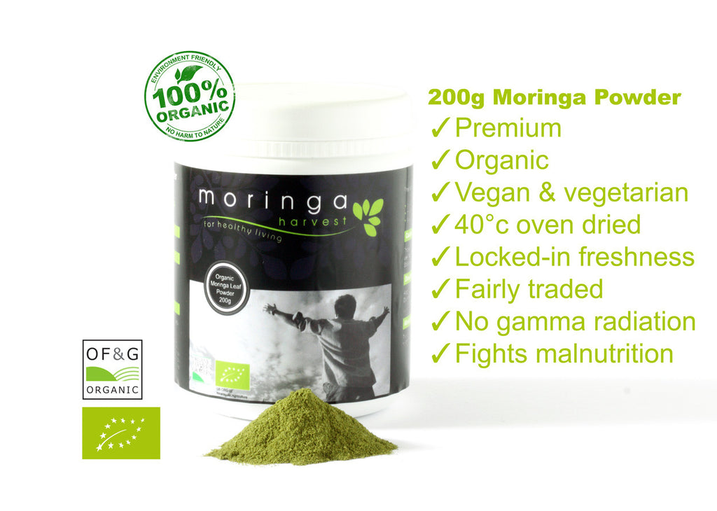 Premium Organic Moringa Loose Leaf Powder (200g) (Stock Clearance) - Moringa Harvest