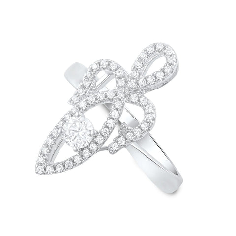 Sterling Silver Cz Sacred Feminine Ring - SilverCloseOut - 1