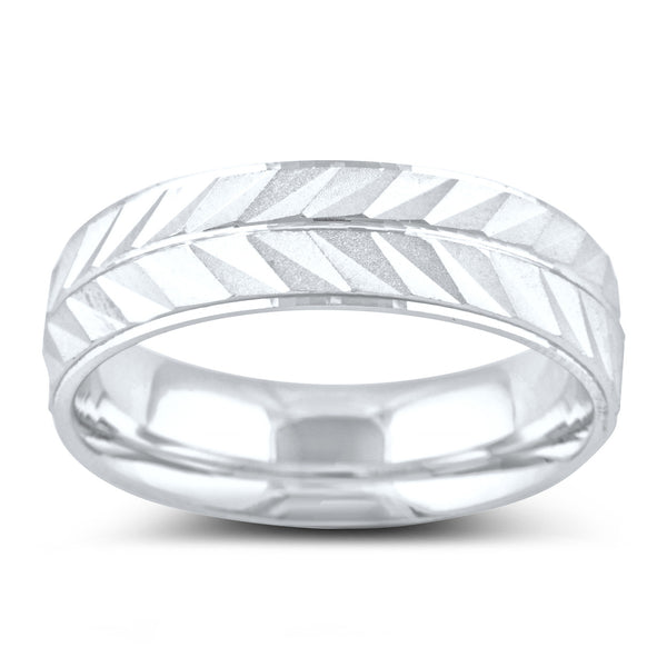 Sterling Silver Split Arrow Wedding Band - SilverCloseOut - 2