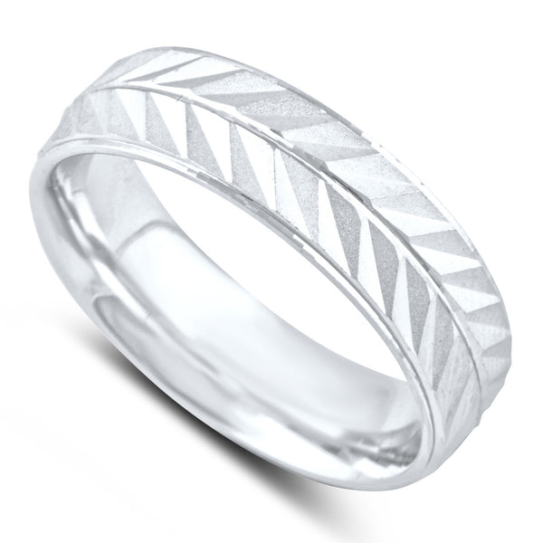 Sterling Silver Split Arrow Wedding Band - SilverCloseOut - 1