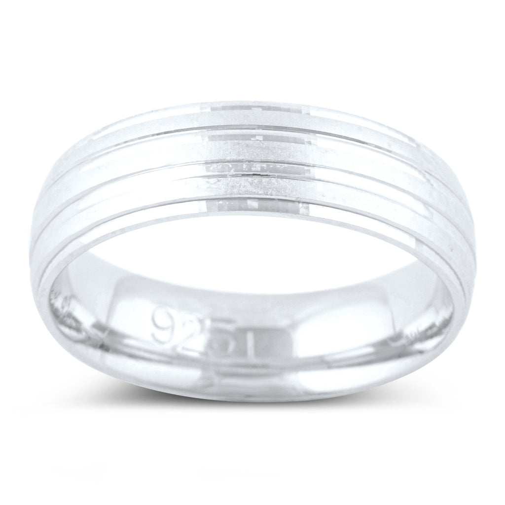 Sterling Silver Split Row Wedding Band - SilverCloseOut - 1