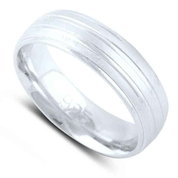Sterling Silver Split Row Wedding Band - SilverCloseOut - 2