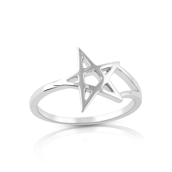 Sterling Silver Pentagram Star Ring - SilverCloseOut - 2