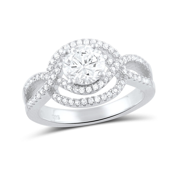Sterling Silver Cz Fancy Solitaire Ring - SilverCloseOut - 3