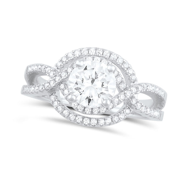 Sterling Silver Cz Fancy Solitaire Ring - SilverCloseOut - 2