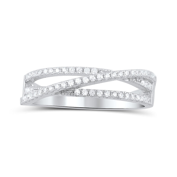 Sterling Silver Cz Wrap Around Thread Ring - SilverCloseOut - 2