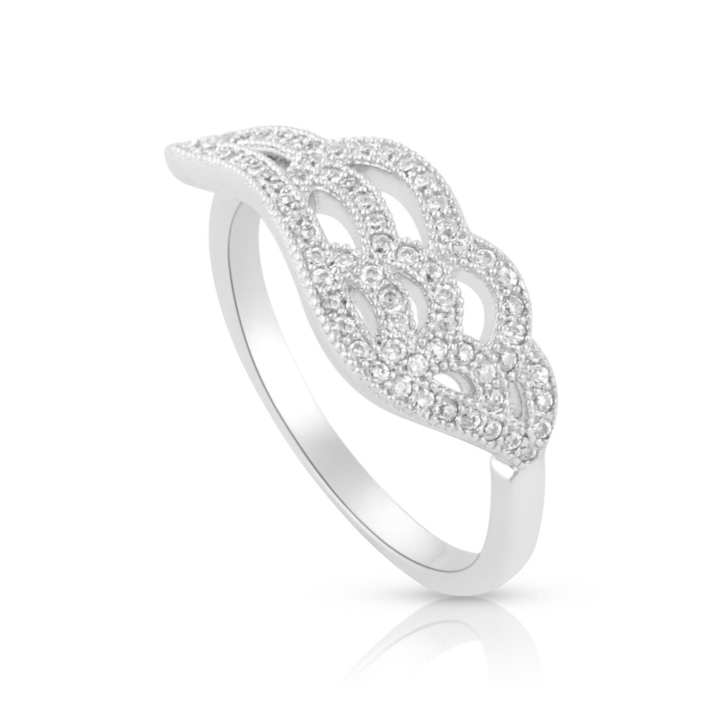 Sterling Silver Cz Wing Ring - SilverCloseOut - 1