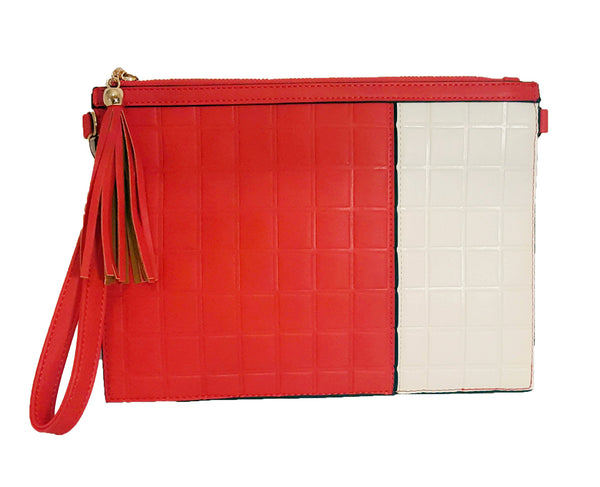 Red & White Clutch