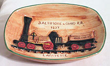 Pennsbury Pottery - Baltimore & Ohio Train - Dish or Wall Plaque