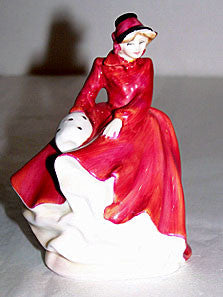 "Royal Doulton - Emma - HN3208 - Miniature Bone China Lady Figurine  4 1/4"" - No Box"