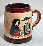 Pennsbury Amish Couple Beer Mug
