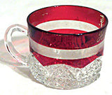 Ruby Stained Button Arches - Souvenir Cup - Harry F