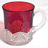 Ruby Stained Button Arches - Souvenir Mug - J M R 1912