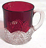 Ruby Stained Button Arches - Souvenir Mug - Verna 1926