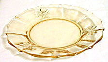 Elegant Glass - Fostoria Baroque - Topaz Plate - 7 in.