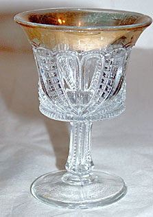 EAPG - US Glass - Blazing Cornucopia / Paisley / Blazing Hearts - Wine Glass 4""