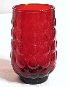 "Anchor Hocking - Bubble - Royal Ruby - Juice Tumblers 4"" - Lot of 6"