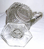EAPG - Bryce / US Glass - Clear Glass - Buzz Star Pitcher 9 1/2""