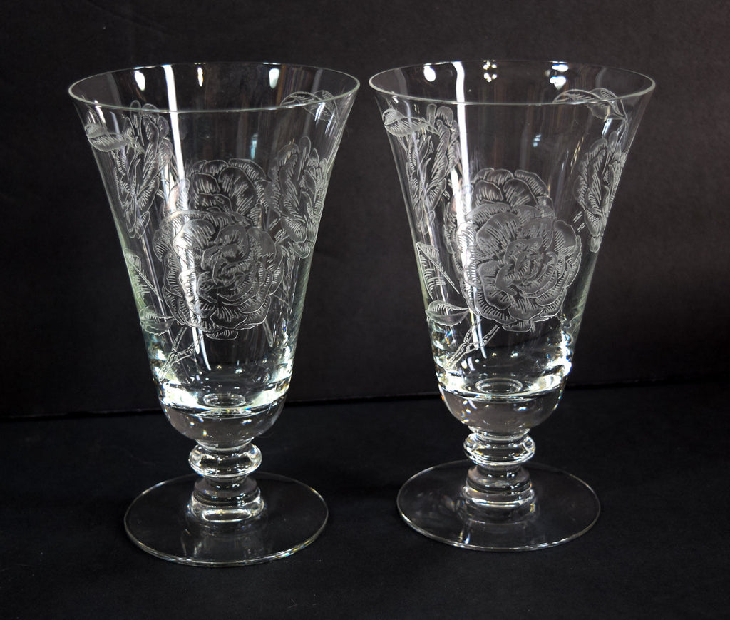 Elegant Glass - Fostoria - Camellia Footed - Ice Tea - Tumblers 6.5""