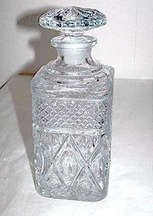 Elegant Glass - Imperial - Cape Cod - Square Decanter w/ Stopper 8 3/4""