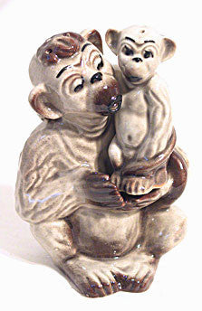CAS - Ceramic Arts Studio - Monkey Snuggle - Shakers - Pair